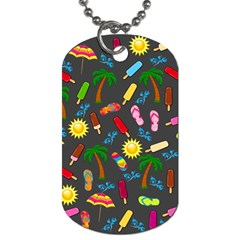 Beach Pattern Dog Tag (two Sides) by Valentinaart