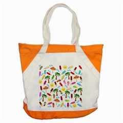 Beach Pattern Accent Tote Bag by Valentinaart