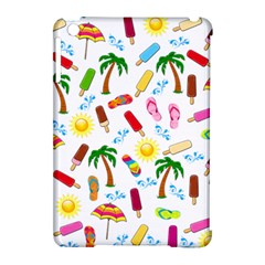 Beach Pattern Apple Ipad Mini Hardshell Case (compatible With Smart Cover) by Valentinaart