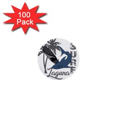 Surf   Laguna 1  Mini Buttons (100 Pack)  by Valentinaart