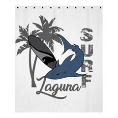 Surf   Laguna Shower Curtain 60  X 72  (medium)  by Valentinaart