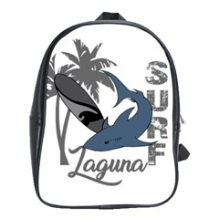 Surf   Laguna School Bags (xl)  by Valentinaart