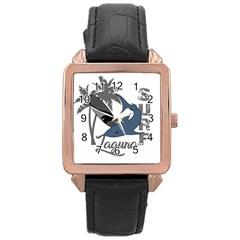 Surf   Laguna Rose Gold Leather Watch  by Valentinaart