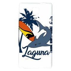 Surf   Laguna Galaxy Note 4 Back Case by Valentinaart