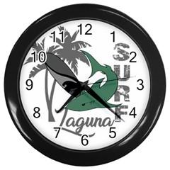 Surf   Laguna Wall Clocks (black) by Valentinaart