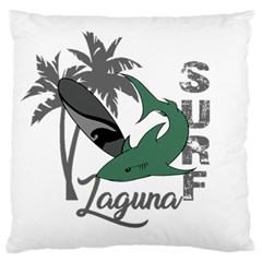 Surf   Laguna Large Flano Cushion Case (two Sides) by Valentinaart
