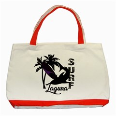 Surf   Laguna Classic Tote Bag (red) by Valentinaart