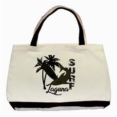 Surf   Laguna Basic Tote Bag (two Sides) by Valentinaart