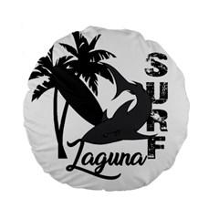 Surf   Laguna Standard 15  Premium Round Cushions by Valentinaart