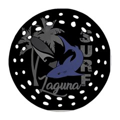Surf   Laguna Round Filigree Ornament (two Sides) by Valentinaart