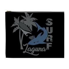 Surf   Laguna Cosmetic Bag (xl) by Valentinaart