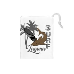 Surf   Laguna Drawstring Pouches (small)  by Valentinaart