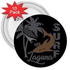 Surf   Laguna 3  Buttons (10 Pack)  by Valentinaart