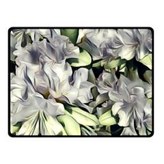Elegant Flowers A Fleece Blanket (small) by MoreColorsinLife