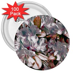 Elegant Flowers B 3  Buttons (100 Pack)  by MoreColorsinLife