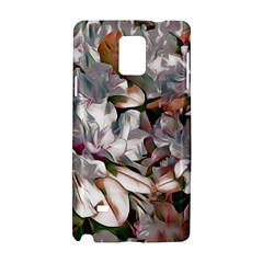 Elegant Flowers B Samsung Galaxy Note 4 Hardshell Case by MoreColorsinLife