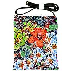 Hot Flowers 02 Shoulder Sling Bags by MoreColorsinLife