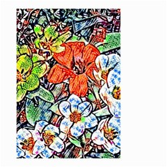 Hot Flowers 02 Small Garden Flag (two Sides) by MoreColorsinLife