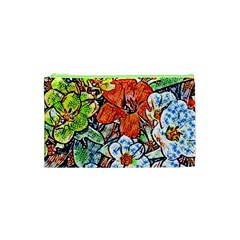 Hot Flowers 02 Cosmetic Bag (xs) by MoreColorsinLife
