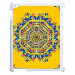 Happy Fantasy Earth Mandala Apple Ipad 2 Case (white) by pepitasart