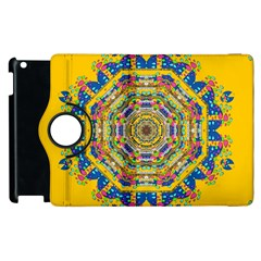 Happy Fantasy Earth Mandala Apple Ipad 3/4 Flip 360 Case by pepitasart