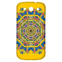 Happy Fantasy Earth Mandala Samsung Galaxy S3 S Iii Classic Hardshell Back Case by pepitasart