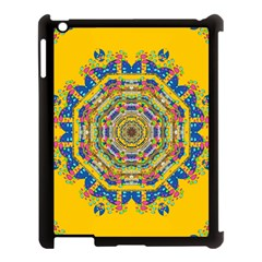 Happy Fantasy Earth Mandala Apple Ipad 3/4 Case (black) by pepitasart