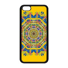 Happy Fantasy Earth Mandala Apple Iphone 5c Seamless Case (black) by pepitasart