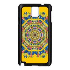 Happy Fantasy Earth Mandala Samsung Galaxy Note 3 N9005 Case (black) by pepitasart
