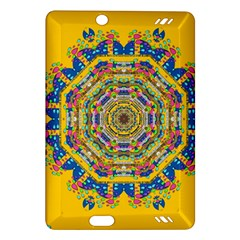 Happy Fantasy Earth Mandala Amazon Kindle Fire Hd (2013) Hardshell Case by pepitasart
