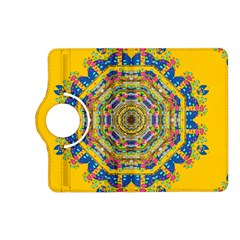 Happy Fantasy Earth Mandala Kindle Fire Hd (2013) Flip 360 Case by pepitasart