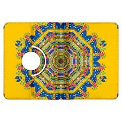 Happy Fantasy Earth Mandala Kindle Fire Hdx Flip 360 Case by pepitasart