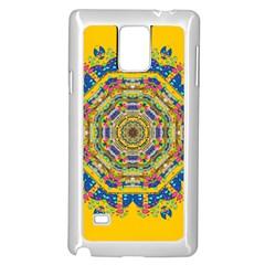 Happy Fantasy Earth Mandala Samsung Galaxy Note 4 Case (white) by pepitasart