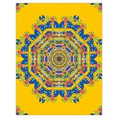 Happy Fantasy Earth Mandala Drawstring Bag (large) by pepitasart