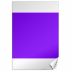 Neon Purple Solid Color  Canvas 20  X 30   by SimplyColor