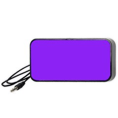 Neon Purple Solid Color  Portable Speaker (black) by SimplyColor