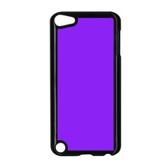 Neon Purple Solid Color  Apple Ipod Touch 5 Case (black) by SimplyColor