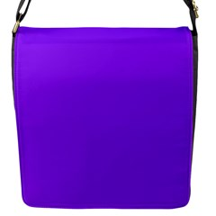 Neon Purple Solid Color  Flap Messenger Bag (s) by SimplyColor