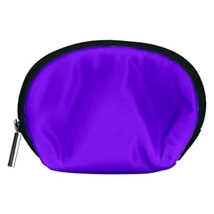 Neon Purple Solid Color  Accessory Pouches (medium)  by SimplyColor