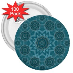 Wood And Stars In The Blue Pop Art 3  Buttons (100 Pack)  by pepitasart