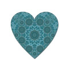 Wood And Stars In The Blue Pop Art Heart Magnet by pepitasart