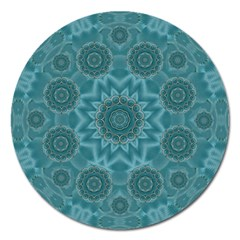 Wood And Stars In The Blue Pop Art Magnet 5  (round) by pepitasart