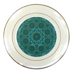 Wood And Stars In The Blue Pop Art Porcelain Plates by pepitasart