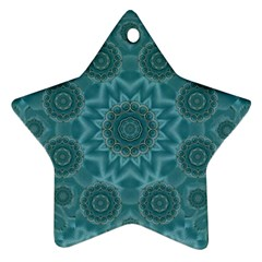 Wood And Stars In The Blue Pop Art Star Ornament (two Sides) by pepitasart
