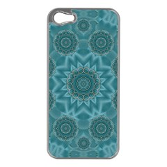 Wood And Stars In The Blue Pop Art Apple Iphone 5 Case (silver) by pepitasart