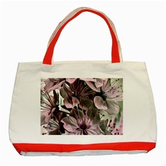 Wonderful Silky Flowers A Classic Tote Bag (red) by MoreColorsinLife