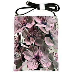 Wonderful Silky Flowers A Shoulder Sling Bags by MoreColorsinLife