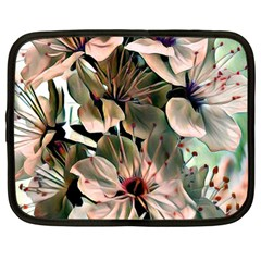 Wonderful Silky Flowers C Netbook Case (large) by MoreColorsinLife