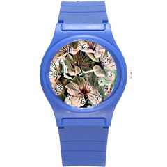 Wonderful Silky Flowers C Round Plastic Sport Watch (s) by MoreColorsinLife