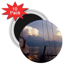 Sailing Into The Storm 2 25  Magnets (10 Pack)  by oddzodd